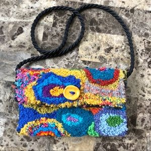 Handmade colorful Boho hippie shoulder bag